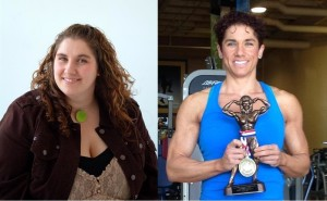 Melina Perron in 2008 and 2014 as Canadian Women's Lightweight Bodybuilding Champion.